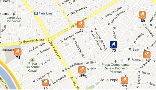 Mapa Bike Sampa