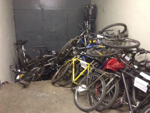 Bicicletas apreendidas