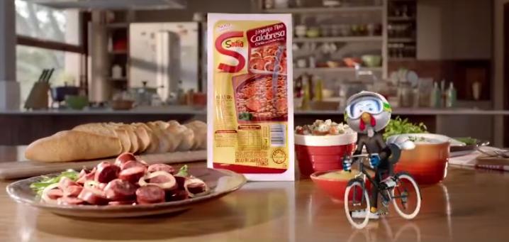 Será que o mascote andando de bicicleta deixa o produto mais saudável?